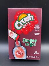 Crush Cherry Singles To Go Powder Sugar Free Packet Water Drink Mix 3PKS