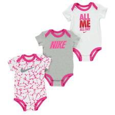 Nike Baby Set Body 3tlg NEU Mädchen weiss grau pink Geschenkset Gr. 3-6 Mon 68