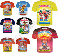 Women Men 3D print Cartoon Garbage Bucket Kids Casual T-Shirt Short Sleeve Tops