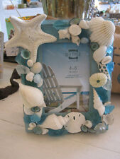 Beach Decor Seashell Picture Frame - Wooden Picture Frame - Beach Wedding