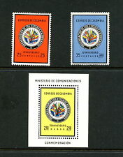 H503  Colombia 1962   Organization American States   flags     MNH