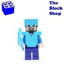 NEW LEGO - Steve with Helmet, Armor and Axe (21122) Minecraft Minifigure Minifig