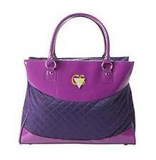 NWT $100-Womens G by GUESS Shopper Metro Violet Purple Travel Tote Handbag Purse