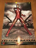 """IRON MAN original 2008 rolled poster 22"""" X 34"""" #9274 By Trends Int. SMALL TEAR"""