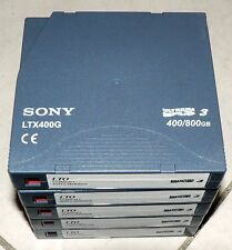 Lot de 5 cassettes sauvegarde SONY LTO3 400/800Go