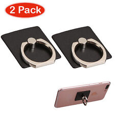 Black Adhesive Cell Phone Ring Stand (2pcs)