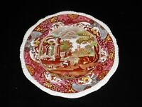 Copeland Spode Vintage Multi Color Transferware Dinner Plate