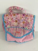 Vintage Fisher Price Butterfly Diaper Bag Blanket Bowl Spoon Pacifier Baby Doll