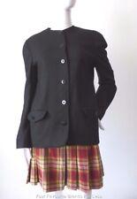 JAEGER VINTAGE Size 10  US 6 Black Wool Jacket Made in Great Britain