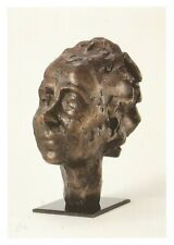 Postcard Hans Coper Tapered Portrait Head of Lucie Rie Barbican Gallery MINT