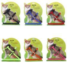 Adjustable Pet Cat Nylon Collar Leash Harness Lead Walking Leash Strap Belt