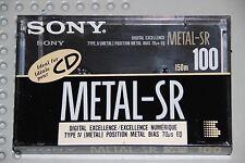SONY  METAL  SR   100  VS. III  BLANK CASSETTE TAPE (1) (SEALED)
