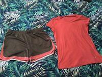 Reebok  Gym Set T-shirt And Shorts    Size UK L
