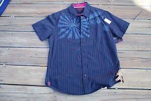 Tony Hawk Youth Medium button up pinstriped dress shirt new with tags