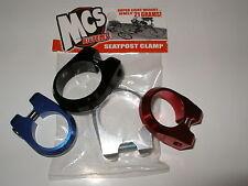 "MCS BMX SEATPOST CLAMP 1 1/4""  SILVER"