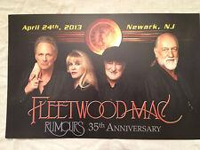 Rare Fleetwood Mac Concert Poster Card Prudential Center Newark Nj April 24 2013