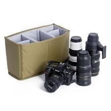 DIY Insert Partition Padded Bag SLR Camera Lens Divider Case Fit 1 DSLR + 5 Lens