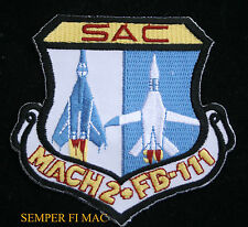 US AIR FORCE F-111 AARDVARK SAC MACH 2 HAT Patch TAC FTR SQUADRON AFB PIN UP WOW