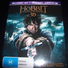 Hobbit The Battle Of The Five Armies (Australia Region B) 3D Bluray + Blry - NEW