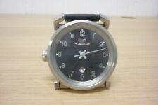 Vestal Observer Left-Handed Black Face Steel Back Watch Working