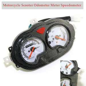 Motorcycle Scooter Carbon Odometer Meter Speedometer Instrument Gauge GY6 150cc