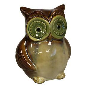 Brand New Ceramic Owl Money Box In Brown Animal Gifts