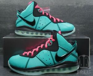 Nike LeBron 8 South Beach QS Size 7.5 Teal Pink 2021 Mens CZ0328-400