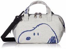PEANUTS SNOOPY 2Way Mini Shoulder Bag Tote Purse Pouch Handbag SPN-279 Grey New