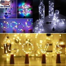 Wine Bottle Fairy String Lights 10-20LED Battery Cork For Party Christmas Xmas