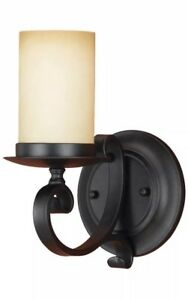 NEW Murray Feiss Wall Light Fixture Black Antique Cream WB1310BK DISCONTINUED