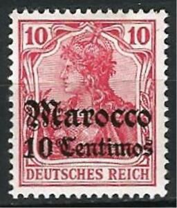 Germany Foreign Post Offices Morocco 1905 MH 10 C on 10 Pf Deutsches Reich Mi-23