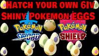 EGG 6 BUNDLE CUSTOM OT ID✨SHINY✨ Pokémon Sword and Shield Fast Delivery