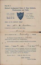 Grimsby. 1919. William H Bretton. Shop Assistants, Warehousemen.  RN.459