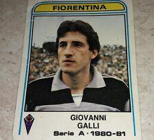 FIGURINA CALCIATORI PANINI 1980/81 FIORENTINA GALLI N° 155 ALBUM 1981