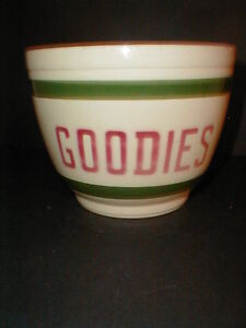 Watt Pottery USA GOODIES Ice Bucket/Cookie Jar #59- RARE