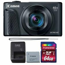 Canon PowerShot SX740 HS 20.3MP Digital CameraBlack with 64GB Memory card