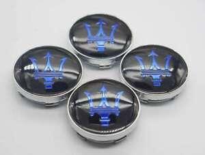 4x 60mm For Maserati Car Wheel Rim Hub Caps Center Covers Emblems Badges Styling