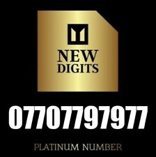 GOLD UNIQUE RARE DIAMOND VIP BUSINESS MOBILE PHONE NUMBER SIM CARD 7777777