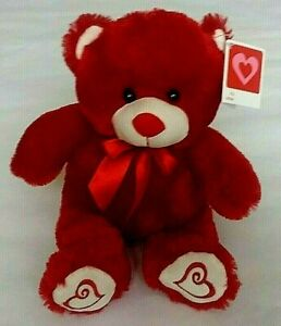 Valentine's Day Red Teddy Bear Plush Collectible 15 Inch NWT