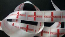 "England Flag Football 1"" Grosgrain Ribbon 1 METRE"
