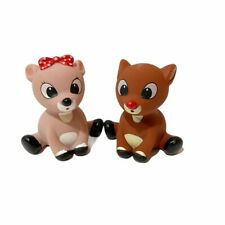 Rudolph The Red Nosed Reindeer & Clarice Little Water Squirters Prestige Toy 3""