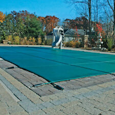 20'x40'+4x8 Center Step Winter Pool Safety Cover Green Mesh 12-Yr