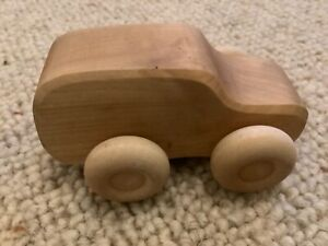 Grimms holz & spiel wooden toy natural lime wood van  Montessori Waldorf