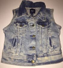 Preowned- Gap Kids Unisex Denim Vest (Size S)