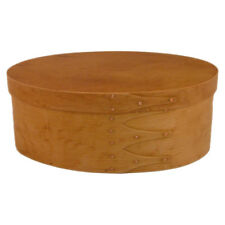 Size #4 Shaker Oval Box with Birdseye Bands and Hawaiian KOA Top, Hand Finish