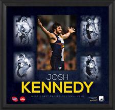 Josh Kennedy Unsigned West Coast Eagles Official AFL Montage 2015 Print Framed
