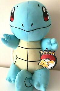 "NEW Giant Pokemon Plush Squirtle Jumbo 17"" Soft Stuffed Toy. NWT"