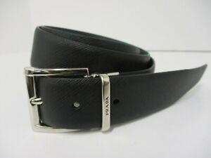 PRADA Saffiano-Leather Belt 100cm BN 22320JC
