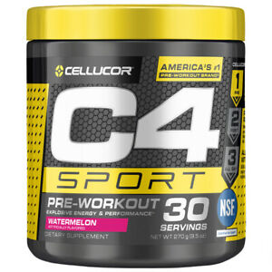 Cellucor C4 Sport Concentrated Energy Pre-Workout Powder Watermelon 285g