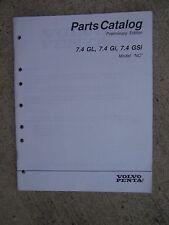"1996 Volvo Penta ""NC"" 7.4GL 7.4Gi 7.4GSi Boat Engine Parts Catalog Preliminary U"